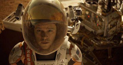 Matt Damon em 'Perdido em Marte'.
