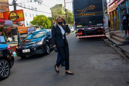 A primeira-dama do Estado de São Paulo, Bia Dória, presidente do Fundo Social, em uma ação do Governo em Heliópolis.
