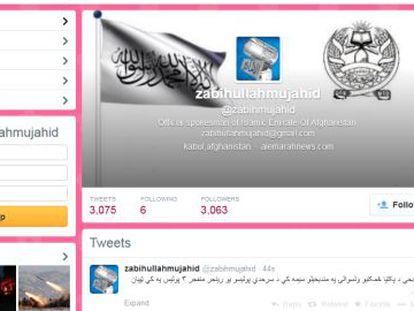 """Twitter do """"porta-voz oficial do Emirado Islâmico do Afeganistão""""."""