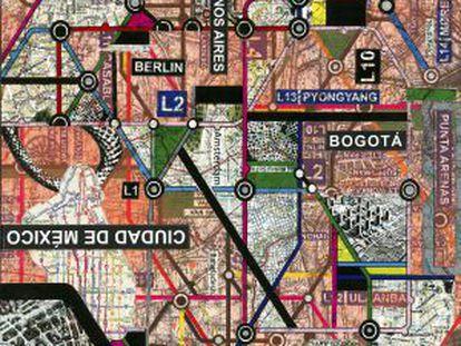"""Projeto """"Cartografias"""" (2013) da artista uruguaia Paola Monzillo."""