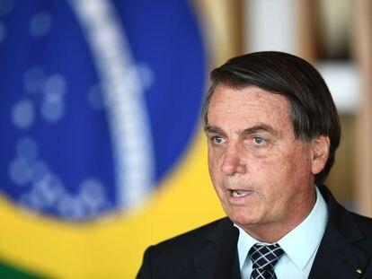 Presidente Jair Bolsonaro em evento no Itamaraty, nesta terça-feira (20).