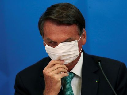 O presidente Bolsonaro no dia 1º, em Brasília.