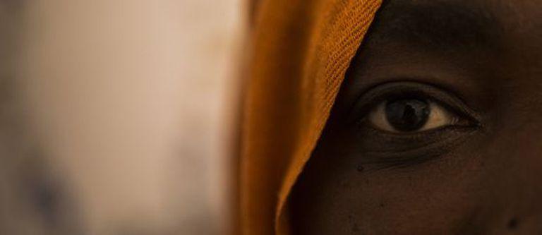 Uma subsaariana que passou sete meses em um campo do Marrocos.