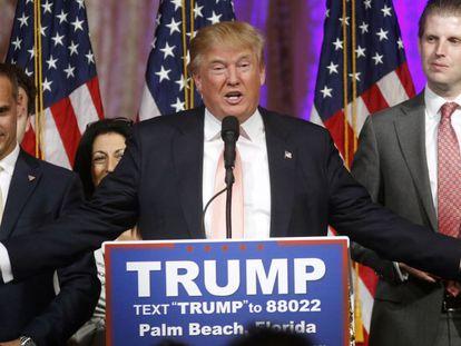Donald Trump, durante um discurso.