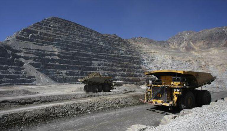 Mina de cobre chilena Los Bronces.