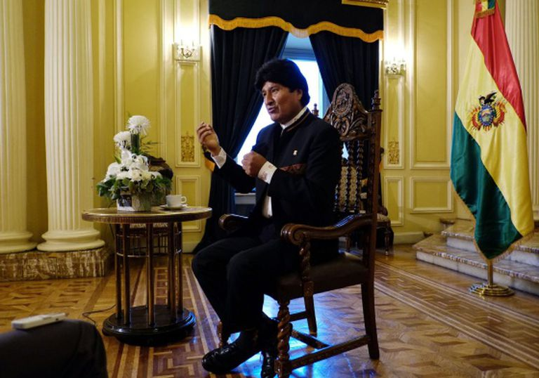 Evo Morales, presidente reeleito da Bolívia.