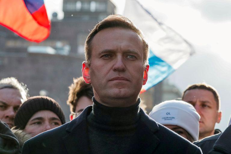 Alexei Navalny em fevereiro, em Moscou, durante cerimônia do aniversário da morte do também opositor russo Boris Nemtsov.
