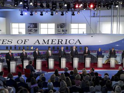 Candidatos republicanos testam Donald Trump