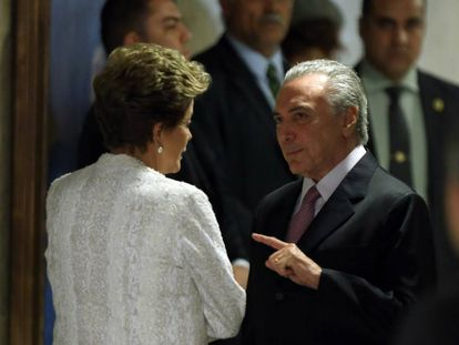 Dilma Rousseff e Michel Temer, no Palácio do Planalto, em imagem de outubro deste ano.
