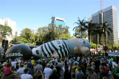 'Lula inflado' na avenida Paulista.