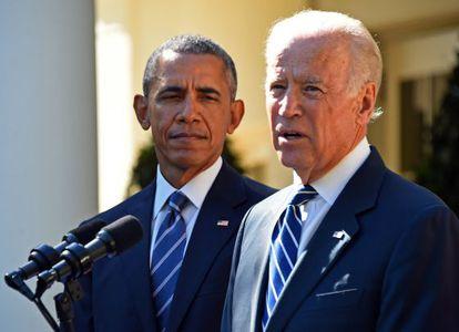 Barack Obama e Joe Biden, nesta quarta-feira na Casa Branca.