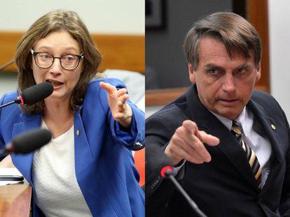 Maria do Rosário (PT) e Jair Bolsonaro (PP): deputados de ideologias opostas bateram boca recentemente.