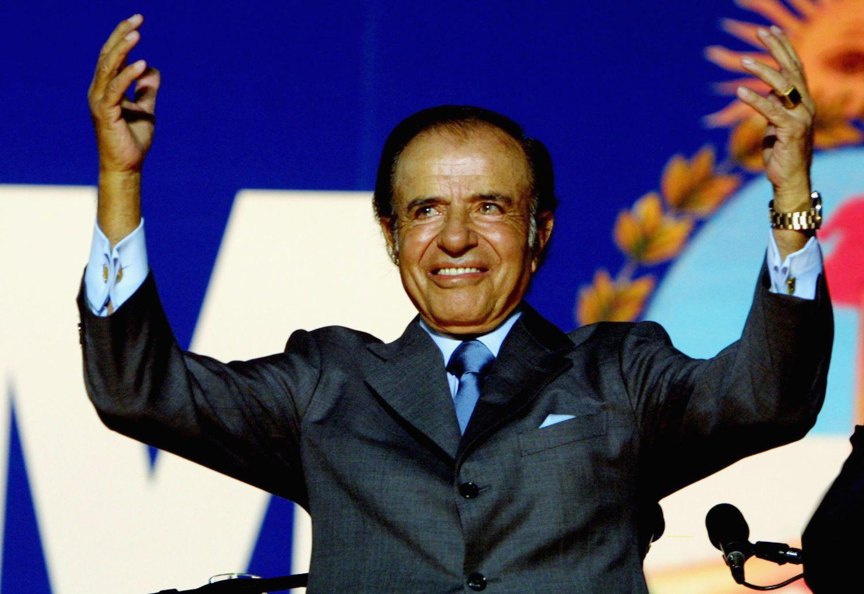 Carlos Menem, em uma imagem de 2003.