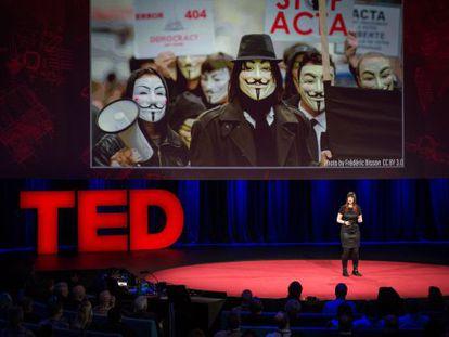 Uma das palestras do TED - neste caso, sobre os hackers.