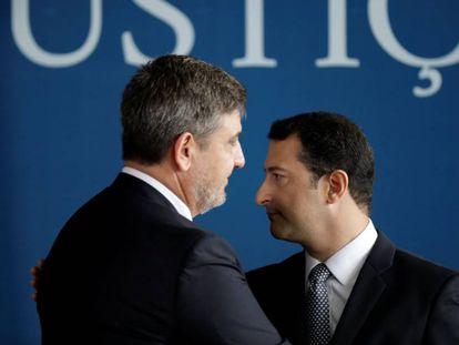 Os delegados Fernando Segovia e Rogério Galloro.