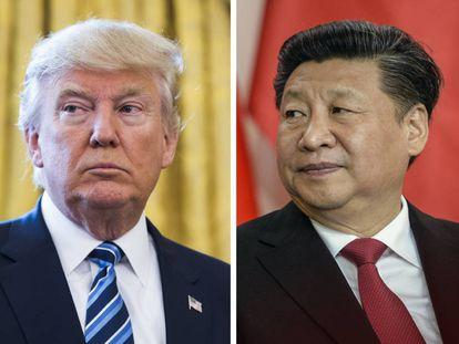 Donald Trump e  Xi Jinping.