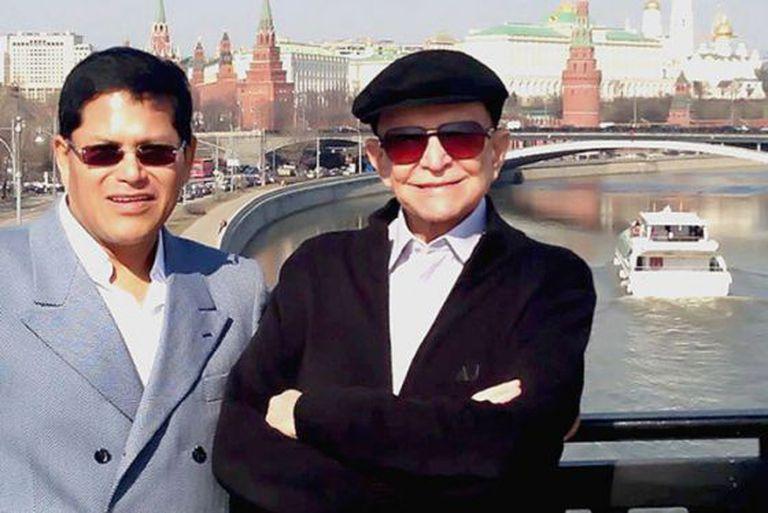 Andrés Heredia e Olacyr de Moraes, em Moscou.