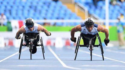 Os 100m T53 é uma disciplina que permite competir a atletas com lesões medulares.