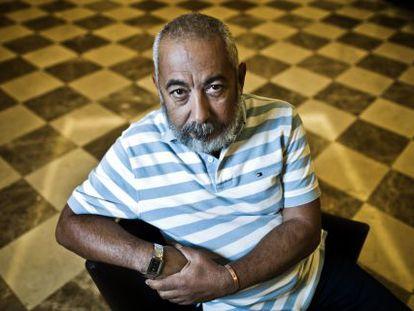O escritor Leonardo Padura, em Madri.