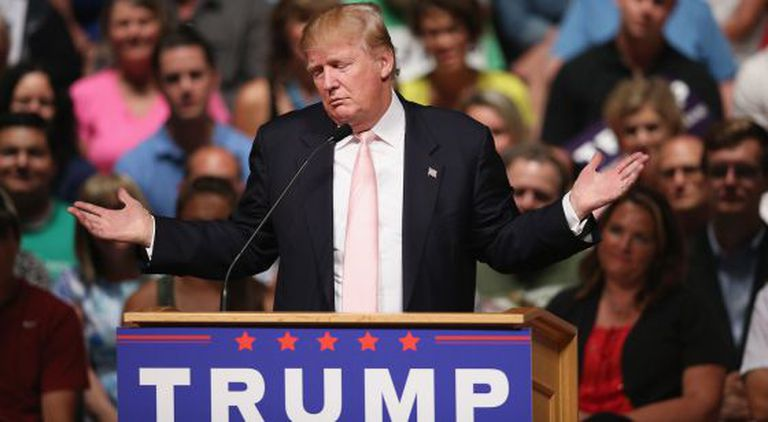 Donald Trump, no sábado em Oskaloosa, Iowa.