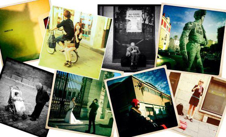 Montagem de fotos tiradas com Instagram.