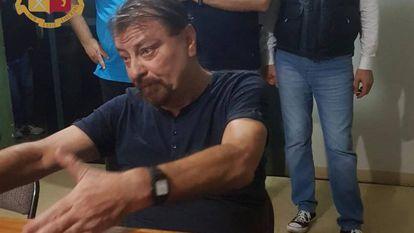Cesare Battisti, na sede da polícia boliviana em Santa Cruz de La Sierra.