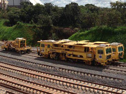 Um trecho da ferrovia Norte-Sul, no Tocantins.