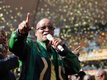 O presidente sul-africano, Jacob Zuma, no Congresso Africano Nacional.