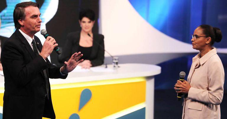 Marina interpelou Bolsonaro e foi aplaudida.