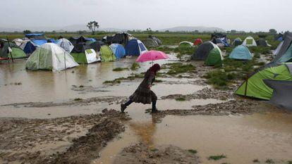 Campo de refugiados de Idomeni.