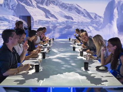 O restaurante Sublimotion em homenagem ao Polo Norte.