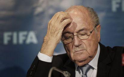 Blatter em uma conferência em Marrocos em 2014.