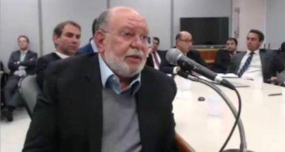 Léo Pinheiro durante seu depoimento.