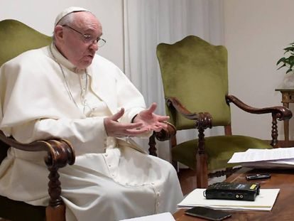O papa Francisco, durante a entrevista.