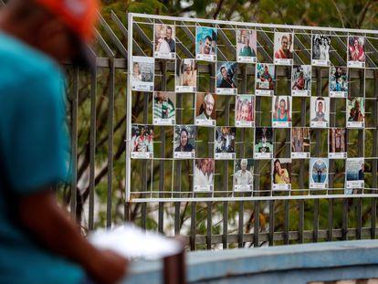 Memorial em homenagem às vítimas de covid-19 em Cuiabá.