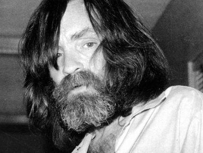 Charles Manson num centro de saúde de Vacaville, na Califórnia, em 10 de junho de 1981