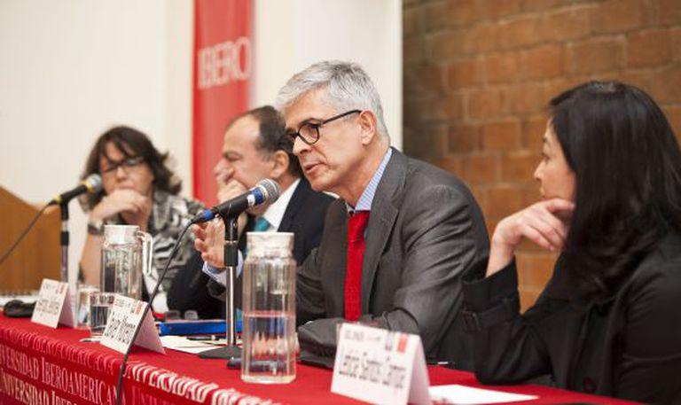 O diretor do EL PAÍS, Javier Moreno, durante a apresentação. / SAÚL RUIZ
