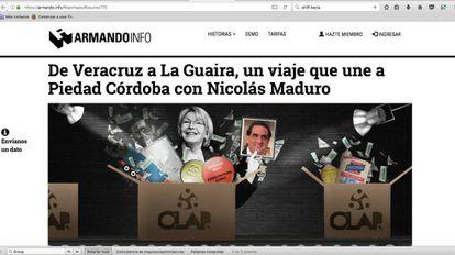 Uma das reportagens que motivou o processo contra o Armando.info