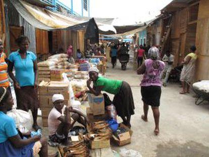 Mercado transfronteiriço de Ouanaminthe.