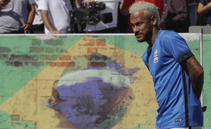 Neymar, durante um torneio de exibição no Brasil.