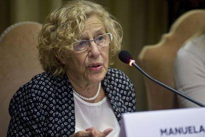 A prefeita de Madri, Manuela Carmena, no Vaticano.