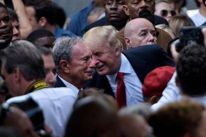 Michael Bloomberg e Donald Trump em uma imagem de arquivo de 2016.