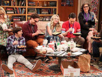 Cena do último capítulo de 'The Big Bang Theory'.