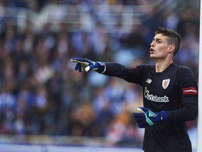 Kepa atuando pelo Athletic Bilbao.