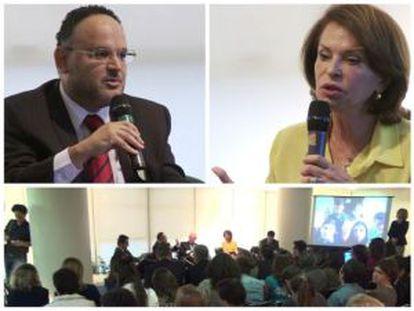 Debate no Rio de Janeiro entre o ministro da Educação, José Henrique Paim, e a responsável pelo programa de educação do candidato Aécio Neves, Maria Helena Guimarães de Castro. (21/10/2014)