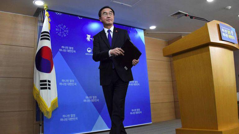 Cho Myoung-gyon, ministro da Unificação da Coreia do Sul, na terça-feira