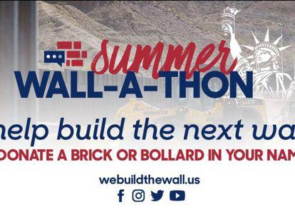 Apresentação no Facebook do grupo 'We Build the Wall'.