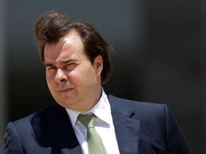 Rodrigo Maia no dia 5, em Brasília.