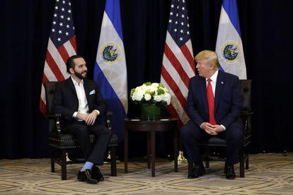 Nayib Bukele e Donald Trump em Nova York em setembro de 2019.
