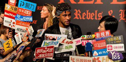 Neymar, em evento de publicidade em Xangai.